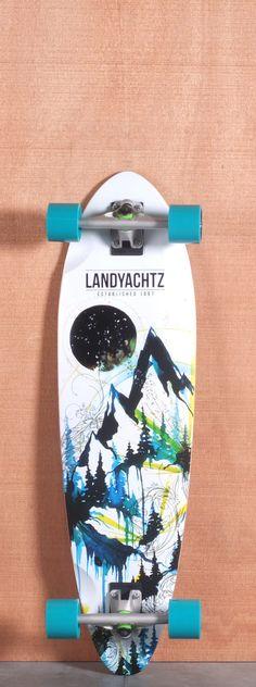 "Landyachtz 36"" Bamboo Stout Mountains Longboard Complete"