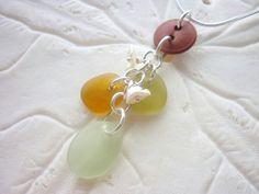 Sea Glass Necklace Jewelry Beach Seaglass by TheMysticMermaid