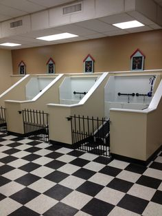 -Repinned-Self Service Dog Wash tub stalls at The Dashing Pooch.