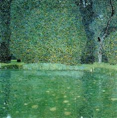 Gustav Klimt. Pond at Schloss Kammer on the Attersee, 1909. Private collection.