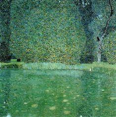 Gustav Klimt, Pond at Schloss Kammer on the Attersee, 1909