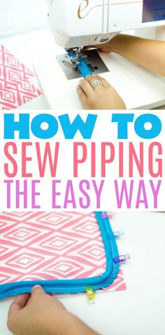 Follow along to  learn how to sew piping the easy way. This is a great sewing project for  beginners! #sewing #sewingideas #sewingprojects #easysewingideas  #sewingprojectsforbeginners #sewingforbeginners #sewingprojectsforteens  #easysewingideas Christmas Gifts For Teenagers, Cool Gifts For Teens, Birthday Gifts For Teens, Diy For Teens, Sewing Projects For Beginners, Diy Projects For Teens, Crafts For Teens, Fun Projects, Sewing Tips