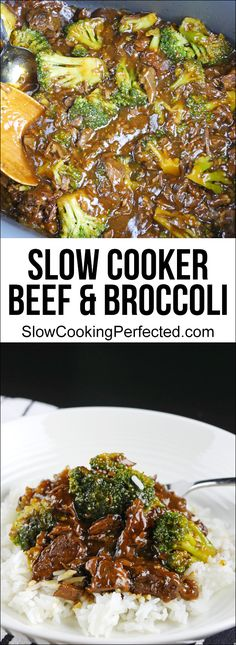 Amazing slow cooker beef & broccoli that's super easy to get prepared. The finished dish features tender pieces of beef and fresh broccoli in a deliciously rich sauce.