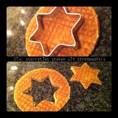 Stroopwafel ster Christmas Fun, Xmas, Childproofing, Desert Recipes, Trick Or Treat, Kids Meals, Nom Nom, Deserts, Good Food