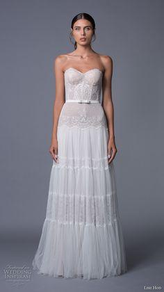 lihi hod 2017 bridal strapless sweetheart neckline bustier heavily embellished bodice bohemian sexy a  line wedding dress sweep train (jane) mv