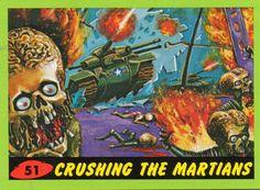 The ultraviolent 1962 'Mars Attacks' trading cards that inspired the Tim Burton movie Mars Attacks, Science Fiction Art, Pulp Fiction, Tim Burton, Comic Books Art, Book Art, Vintage Horror, Art Graphique, Cultura Pop