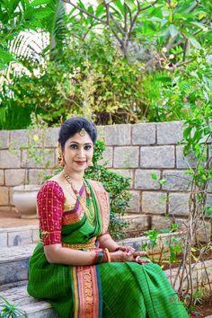 Pretty bride to be! Indian Beauty Saree, Indian Sarees, Silk Sarees, Silk Saree Blouse Designs, Indian Bridal Fashion, Elegant Saree, Saree Dress, Indian Designer Wear, Saree Collection