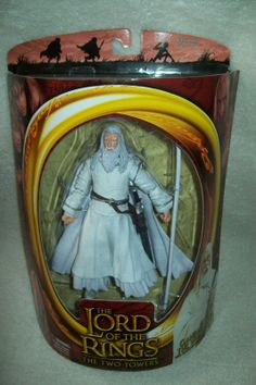 """Lord of the Rings The Two Towers Gandalf the White 6"""" Action Figure ToyBiz 2002"""