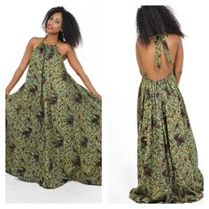 .@mangekimambi | Bongolicious African print maxi backless dress. Available for sale now . Www.... | Webstagram - the best Instagram viewer