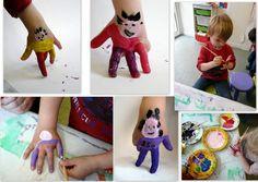 les petites têtes de l'art: Hand painting