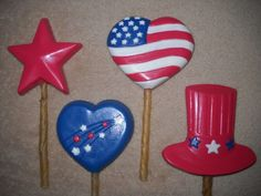 1 chocolate independence day july 4th uncle sam hat lollipops lollipop | sapphirechocolates - Edibles on ArtFire