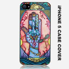 Hand Mandala Singleton Hippie Art Custom iPhone 5 Case Cover. $16.99, via Etsy.