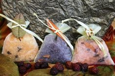 Autumn Galore  3 Bath Salt Bags  Many Scents to by GIFToLOTY, $10.00