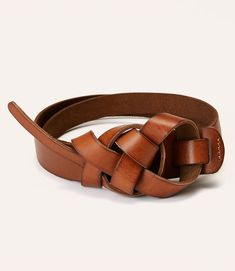 Knotted Leather Belt. See more @LOFT spring style here: http://herwaisechoice.com/khaki-and-white/