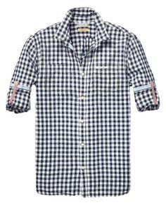 Shirt mit Rollärmeln | Shirts L/S | Herrenbekleidung von Scotch & Soda