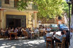 The kafenion of the village of Armeni on the Greek island of Crete by Peace Correspondent on Flickr.