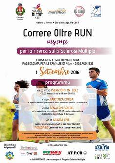 """Domenica 11 settembre """"Correre Oltre RUN"""" 2016 - http://www.gussagonews.it/correre-oltre-run-settembre-2016/"""