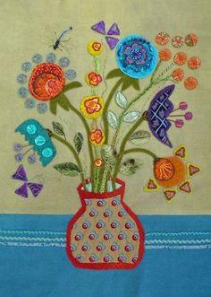 Sue Spargo I like the small purple flowers