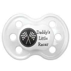 Babies Checkered Flag Racing Daddys Little Racer Pacifier