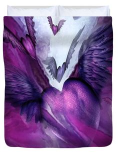 "Flight Of The Heart - Purple Queen (88"" x 88"") Duvet Cover"