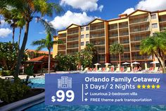 December vacations across the nation are filled with special traditions and celebrations. Discover some of our most popular holiday vacation packages. Orlando Resorts, Orlando Vacation, Need A Vacation, Vacation Deals, Vacation Resorts, Vacation Destinations, Orlando Florida, Travel Deals, Affordable Vacations