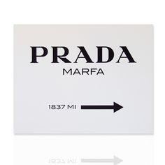 Quadro Prada Marfa Tela 100% cotone  Telaio in legno Pronto da appendere Disponibile in varie dimensioni Shop online: www.declea.com