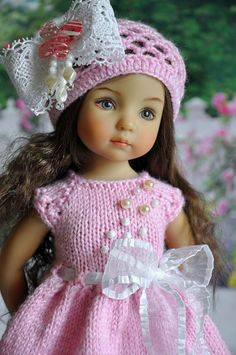 Beautiful Dolls For Decoration on We Heart It Crochet Doll Clothes, Knitted Dolls, Doll Clothes Patterns, Pretty Dolls, Beautiful Dolls, Girl Dolls, Barbie Dolls, Effanbee Dolls, Cute Baby Dolls