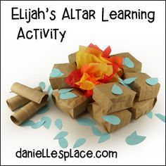 Elijah Bible Crafts and Learning Activities Bible Story Crafts, Bible Crafts For Kids, Bible Study For Kids, Preschool Crafts, Bible Stories, Preschool Ideas, Sunday School Kids, Sunday School Lessons, Sunday School Crafts