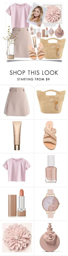 """Neutral theme"" by natalyapril1976 ❤ liked on Polyvore featuring Chicwish, Heidi Klein, Clarins, Essie, Marc Jacobs, Olivia Burton, Neutrogena and LSA International"
