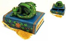 Witch Figurines Collectables | Sleeping Dragon Figurine Trinket Box DRG205 Dragon Figurines, Trinket Boxes, Fairies, Dragons, Fantasy Art, Witch, Decorative Boxes, Geek Stuff, Faeries