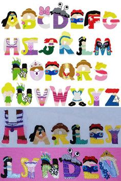 Bows & Clothes Girly Diz Like Letters Embroidery