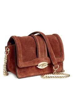 Suede shoulder bag - Dark brown - Ladies | H&M GB 2