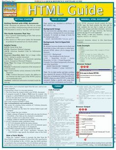 HTML Laminated Reference Guide