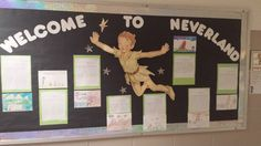 Neverland Bulletin Board for the book Peter Pan.