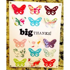thank you card, handmade card, diy card