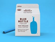 """""""Task: To create a new expression for Blue Bottle's New Orleans Iced Coffee, extending the intimate Blue Bottle experience from carefully curated cafes to a carton, reaching a larger audience and standing out on shelves in mass retailers."""""""