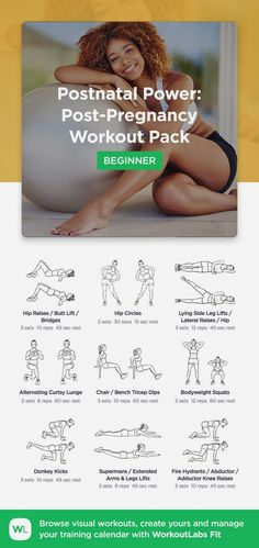 Fitness Motivation : Postnatal Power: Post-Pregnancy Workout Pack by WorkoutLabs Fit · View and down. - All Fitness After Baby Workout, Post Baby Workout, Post Pregnancy Workout, Mommy Workout, Fit Pregnancy, Early Pregnancy, Workout For Moms, Workout Postpartum, Pregnancy Swimsuit
