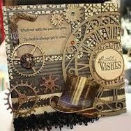 steampunk decorated mdf book - Google Search