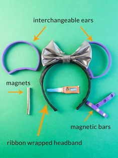 disney crafts Stop buying Mickey Ears that are uncomfortable! Use your favorite headband and a printer to make these simple Interchangeable Mickey Ears for your next Disney trip inste Walt Disney, Disney Cute, Diy Disney Ears, Disney Mickey Ears, Disney Trips, Disney Bows, Mickey Ears Diy, Micky Ears, Disney Land