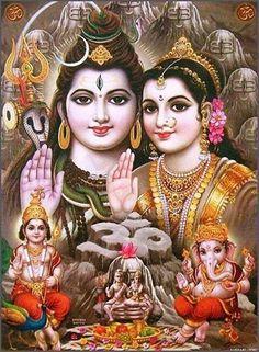 Shiv Parivar Shiva Parvati Images, Shiva Hindu, Shiva Art, Ganesha Art, Durga Images, Hindu Deities, Lord Ganesha, Hindu Art, Ganesh Images