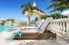 Grace Bay pool sun loungers
