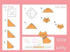 origami tutorials kitty
