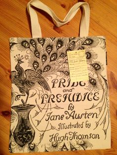 This Pride and Prejudice tote came free with my daughter's Tom's shoe order. Not sure who was most excited when we opened the box!