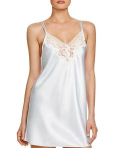 15a2ce72be Oscar de la Renta Pink Label Charmeuse Chemise Sleepwear Women
