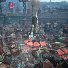 Fallout RPG - View from the mayor's office #Fallout #gaming