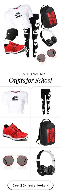 """""""Athletic Nah.. Fashion is my Passion"""" by stylcents on Polyvore featuring NIKE, Rykä, JWorld, Gucci and Beats by Dr. Dre"""