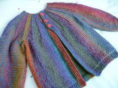 Radiant ~ a child's cardigan worked sideways: Ravelry: sofiecat's Autumn rainbow