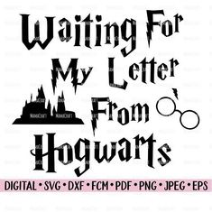 HARRY POTTER SVG Waiting For My Letter digital vector cutting