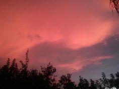 Orange sky before sunset