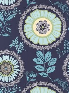 print & pattern blog - Amy Butler  WALLPAPER by graham & brown